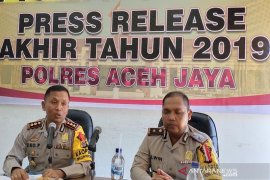 Selama 2019 Kasus kriminal di Aceh Jaya menurun, Laka Lantas meningkat