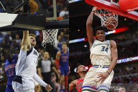 Doncic, Antetokounmpo pimpin jajak pendapat awal NBA All-Star 2020