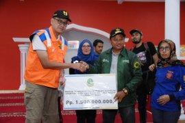 Wagub Jabar salurkan bantuan bencana Rp1,5 miliar untuk Kabupaten Bogor