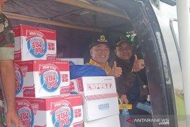 Bantun logistik ke Sukajaya Bogor dipasok lewat udara