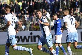 Liga Italia, dua gol Immobile bawa Lazio tundukkan Brescia