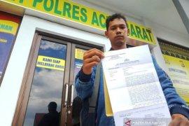 Diancam dibunuh pakai pistol, wartawan di Aceh Barat lapor polisi