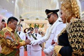 Wali kota Aminullah jadi irup diresepsi nikah purna praja Ghuffran
