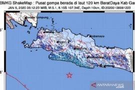 Gempa Garut magnitudo 5,1 dirasakan warga hingga Sukabumi
