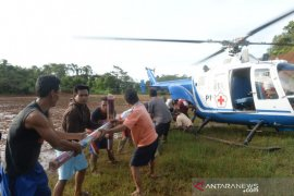 PMI gunakan helikopter dan amfibi hagglund untuk salurkan bantuan ke lokasi terisolasi