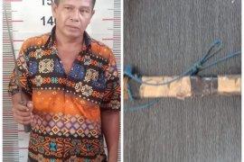 "Polisi Langkat tangkap pelaku ancam temannya pakai parang karena merasa ""dikibusi"" soal narkotika"