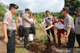 Polres Padangsidimpuan tanam ratusan pohon