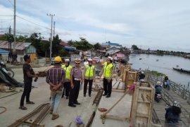 Polda survey kepadatan arus pembangunan tiga jembatan di Banjarmasin