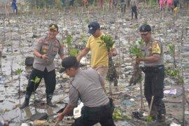 Polres Cirebon Kota tanam 7.000 bibit mangrove