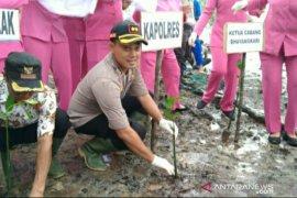 Polres Bangka Selatan tanam 500 pohon mangrove