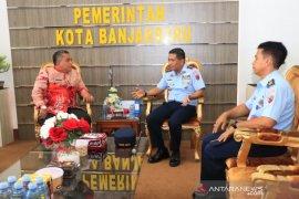 Wali Kota terima kunjungan Danlanud Sjamsudin Noor