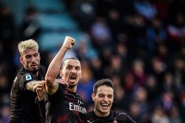 Liga Italia, gol Ibrahimovic warnai kesuksesan Milan akhiri puasa kemenangan