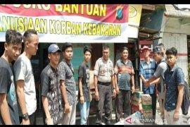Aliansi mahasiswa kedaerahan galang dana untuk bantu korban kebakaran Padangsidimpuan