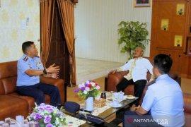 Danlanud Sjamsudin Noor silaturahmi ke Bupati Banjar