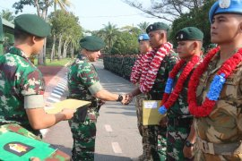 Batalion Infantri Raider 100/PS sambut kepulangan anggota Satgas Kontingen Garuda