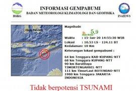 Kupang kembali diguncang gempa