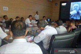 Gubernur bahas pembangunan perhubungan bersama Dishub se-Babel dengan Video Conference