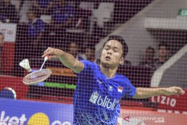 Anthony Ginting dan Jonatan Christie lolos perempat final Indonesia Masters