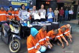 Polresta Malang Kota tangkap 11 tersangka narkoba