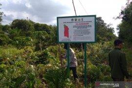 BBKSDA Riau pasang 14 plang larangan di SM Kerumutan, ini tujuannya