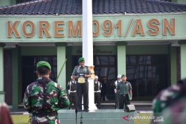Kasrem Ruslan Effendi Irup Upacara Bendera 17-An