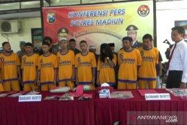 Polres Madiun tangani lima kasus narkoba, 11 tersangka ditangkap