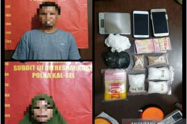 Suami istri kompak jadi pengedar, polisi temukan 370,39 gram narkotika