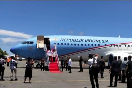 President Joko Widodo arrives in Labuan Bajo