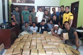 Polisi amankan empat tersangka dan 367 kilogram ganja di Gayo Lues