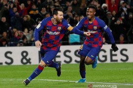 Barcelona puncaki klasemen sementara berkat Messi