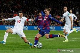 Antoine Griezmann selamatkan Barcelona dari hasil memalukan di Copa del Rey