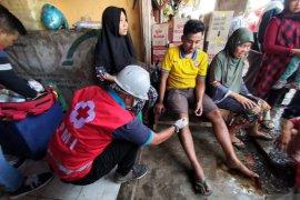 Kebakaran pasar di Sukabumi, dua pedagang terluka