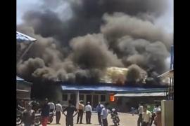 Gudang di kompleks  Pesantren Modern Gontor terbakar