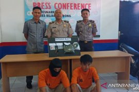 Polres Rejang Lebong amankan dua pengedar narkoba
