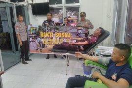 Polisi Bangka-Satpam gelar kegiatan donor darah