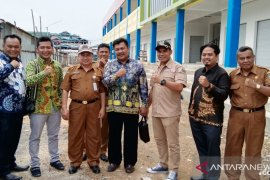 DPRD sidak pembangunan pasar Kemakmuran Kotabaru
