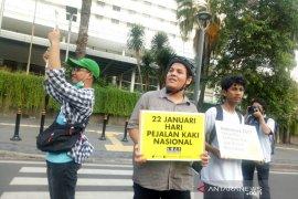 Koalisi Pejalan Kaki meminta hukum Indonesia lindungi hak pejalan kaki