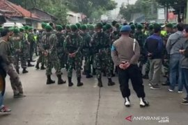 600 personel gabungan jaga  lokasi bentrokan ormas di Sukabumi