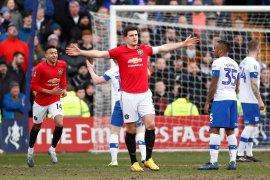 Piala FA, Maguire cetak gol saat MU gasak Tranmere 6-0
