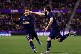Real Madrid menang tipis atas Valladolid antarkan ke puncak klasemen