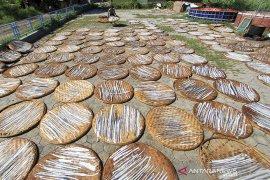 Produksi kerupuk kulit ikan