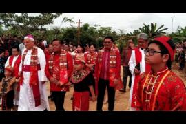 Bupati Sanggau puji kemajuan Paroki Bunut