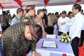 Presiden Jokowi apresiasi Kementerian PUPR lakukan kontrak proyek pada awal tahun