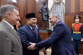 Menhan Prabowo Temui Menhan Rusia jajaki kerja sama