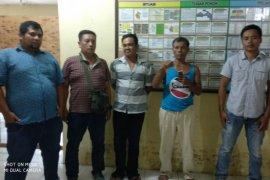 Tersangka pemilik sabu-sabu coba melarikan diri berhasil ditangkap Polisi Hinai Langkat