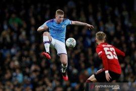 Liga Inggris -  Gelandang Manchester City Kevin de Bruyne tak habis pikir bisa kalah dari MU