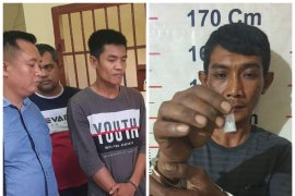 Polsek Stabat Langkat amankan dua pemilik narkotika