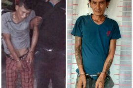 Pura pura sedang memancing ikan, bandar sabu-sabu Pangkalan Brandan Langkat ditangkap