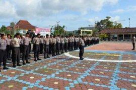 Aparat Polres Indramayu dilatih pengamanan Pilkada 2020