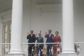 Presiden  terima kunjungan Presiden Singapura di Istana Bogor